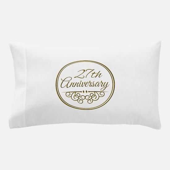 27th Anniversary Pillow Case
