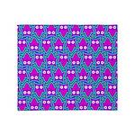 Purple Psychedelic Owl Pattern Throw Blanket