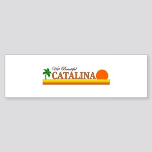 Visit Beautiful Catalina Isla Bumper Sticker