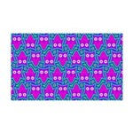 Purple Psychedelic Owl Pattern Wall Decal