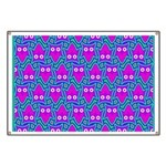 Purple Psychedelic Owl Pattern Banner