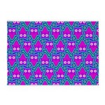 Purple Psychedelic Owl Pattern 5'x7'Area Rug