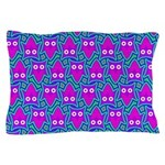 Purple Psychedelic Owl Pattern Pillow Case