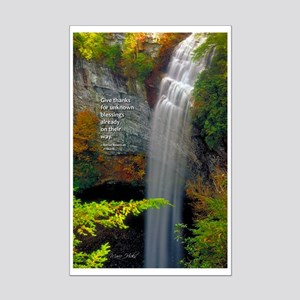 Waterfall Blessings Mini Poster Print