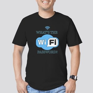 Whats The Wifi Password? Men's Fitted T-Shirt (dar