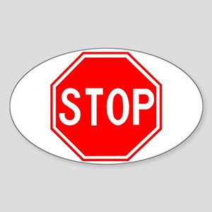 Stop Sign Rectangle Sticker