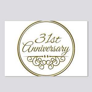 31st Wedding Anniversary Postcards Cafepress