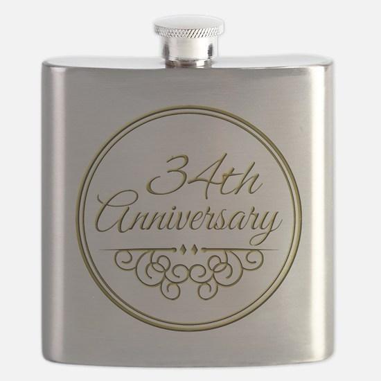 34th Anniversary Flask