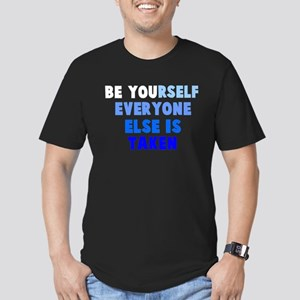 Be YOUrself Men's Fitted T-Shirt (dark)