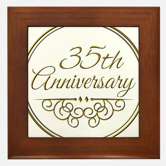 35th Anniversary Framed Tile