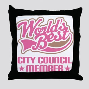 City Council Member Throw Pillow