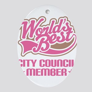 City Council Member Ornament (Oval)