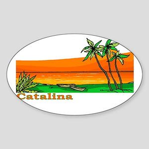 Catalina Island, California Oval Sticker