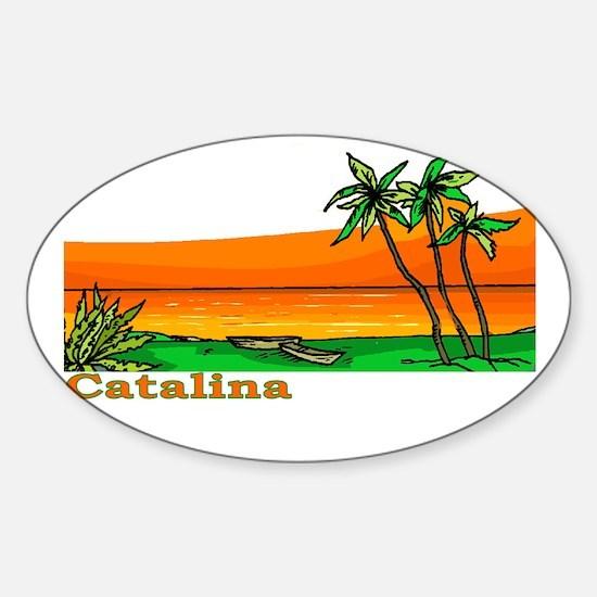 Catalina Island, California Oval Decal