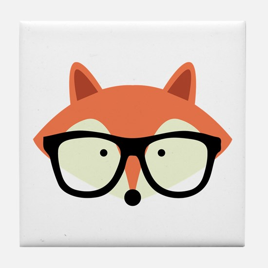 Hipster Red Fox Tile Coaster