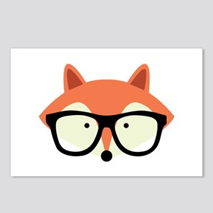 Hipster Red Fox Postcards (Package of 8)