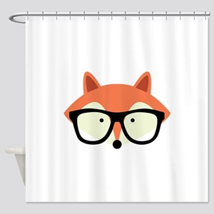 Hipster Red Fox Shower Curtain