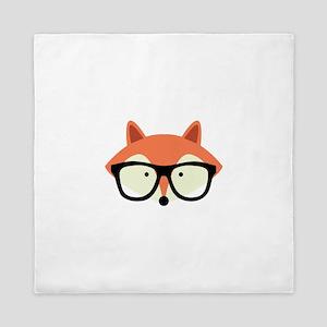 Hipster Red Fox Queen Duvet