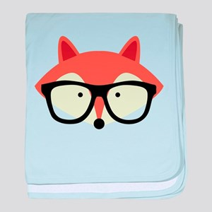 Hipster Red Fox baby blanket