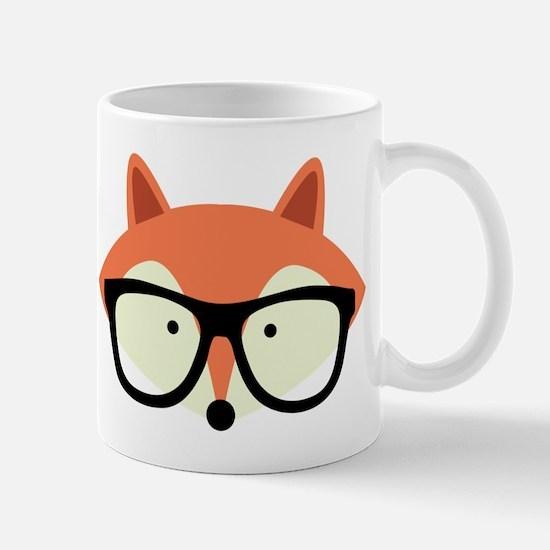 Hipster Red Fox Mug