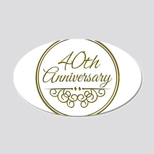 40th Anniversary Wall Decal