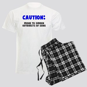 Caution Outbursts of Song Men's Light Pajamas