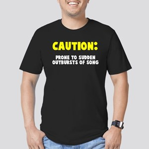 Caution Outbursts of Song Men's Fitted T-Shirt (da