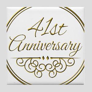 41st Anniversary Tile Coaster
