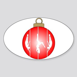Christmas Pole Dancer Sticker