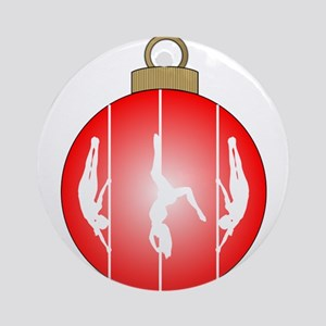 Christmas Pole Dancer Ornament (Round)