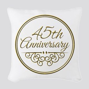 45th Anniversary Woven Throw Pillow