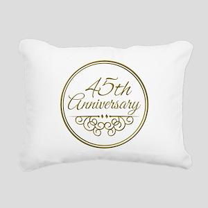 45th Anniversary Rectangular Canvas Pillow
