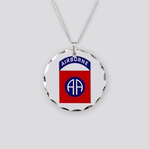 82nd Airborne Necklace Circle Charm