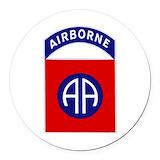 82nd airborne Round Car Magnets