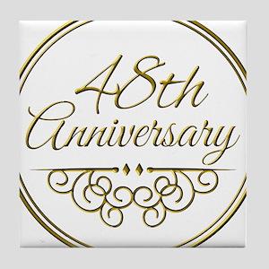48th Anniversary Tile Coaster