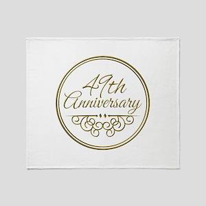 49th Anniversary Throw Blanket