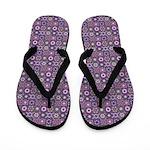 Purple Pattern Fractal Art Flip Flops