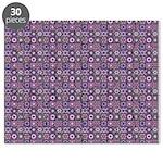 Purple Pattern Fractal Art Puzzle