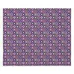 Purple Pattern Fractal Art King Duvet