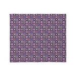 Purple Pattern Fractal Art Throw Blanket
