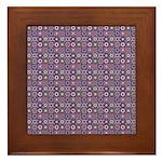 Purple Pattern Fractal Art Framed Tile