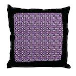 Purple Pattern Fractal Art Throw Pillow