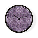 Purple Pattern Fractal Art Wall Clock