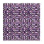 Purple Pattern Fractal Art Tile Coaster