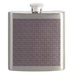 Purple Pattern Fractal Art Flask