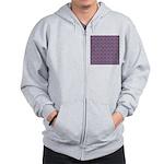 Purple Pattern Fractal Art Zip Hoodie