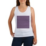 Purple Pattern Fractal Art Tank Top