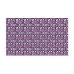 Purple Pattern Fractal Art Wall Decal