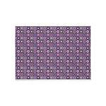 Purple Pattern Fractal Art 5'x7'Area Rug