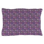 Purple Pattern Fractal Art Pillow Case